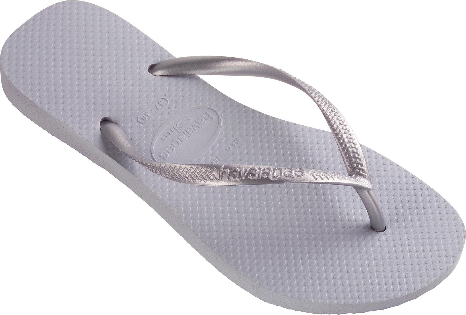 Flip-flops - Slim Grey/ Silver