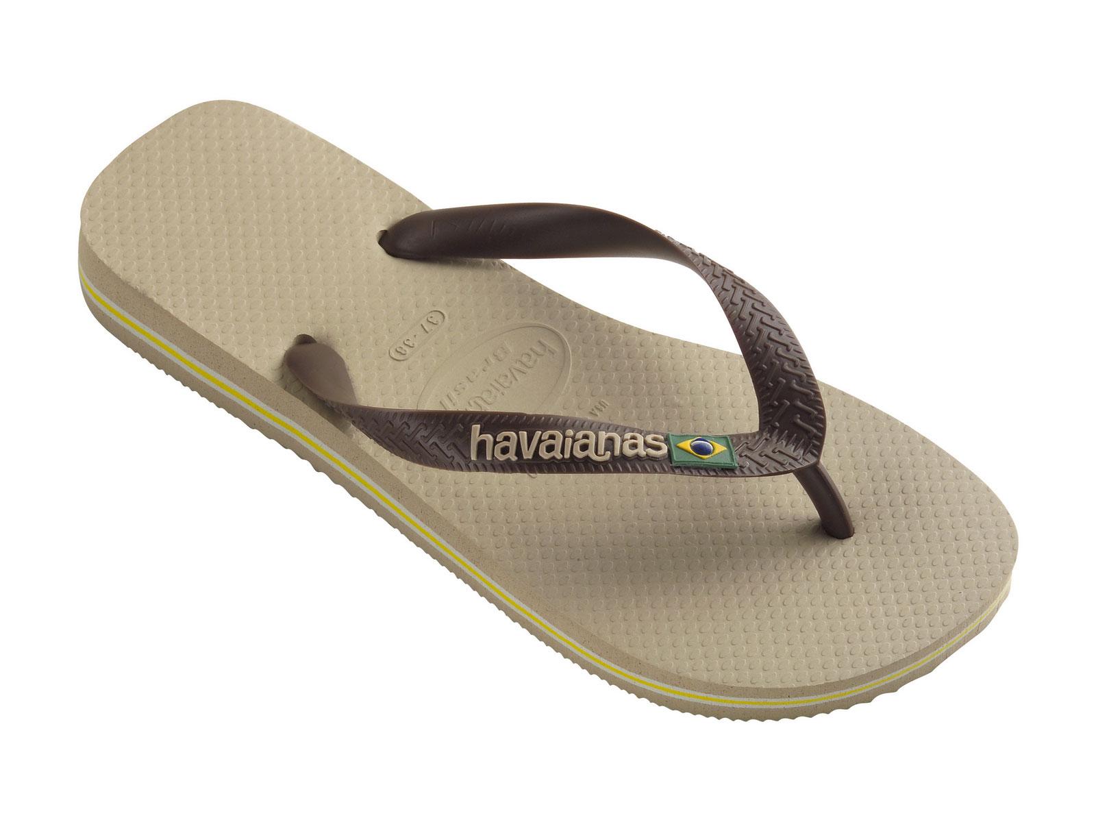 Flip-flops - Brasil Logo Sand Grey