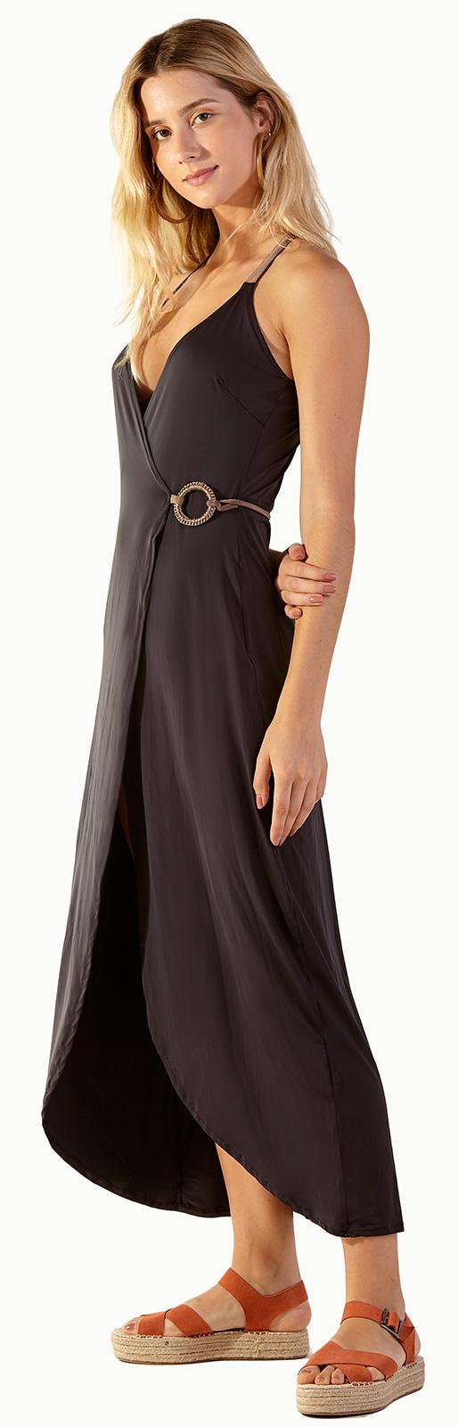 Schwarzes Langes Kleid Mit Herz-dekolletee - Monique Pier ...