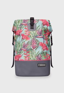 Sac à dos étanche multicolore motif tropical - DRY TANK MINI HARMONY MINT