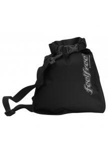 Waterproof black shoulder bag 5L - INNER DRY FLAT 5L BLACK