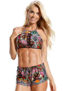 Printed beach shorts with elastic waistband - SHORT TRIBOS