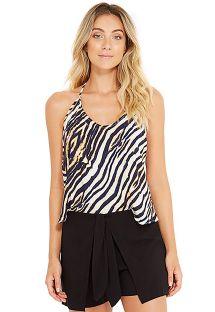 Zebra print beach top with strappy back - AMITY ZEBRADO