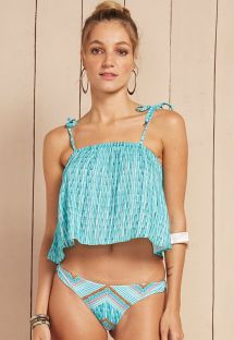 Light blue crop-top style beach top - CROPPED ZOE
