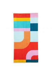 Geometric print beach towel - 100% cotton - LUXE TOWEL ISLABOMBA