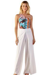 Wallet style white light beach trousers - ELEONORA BRANCO