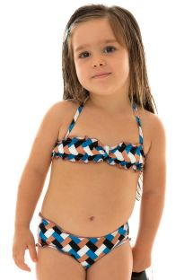 Colorful bikini bandeau for girl - GEOMETRIC KIDS