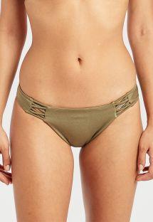 Khakifarbene Bikinihose mit Strappy-Details - SOL SEARCHER TROPIC SAGE