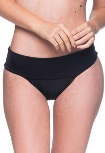 Schwarze Bikinihose mit breiten Seiten - BOTTOM BASE PRETO