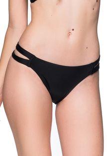 Schwarze Brazilian Bikinihose, Doppelseiten - BOTTOM TIRAS PRETO