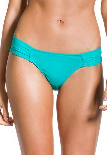 Türkise Bikinihose, plissierte breite Seiten - BOTTOM TRANSPARENCY TURQUOISE
