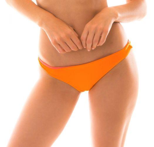 Orange / pink reversible bikini bottom - BOTTOM DUO ORANGE