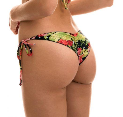 Geblümt/getupfte Scrunch-Bikinihose - BOTTOM ILHA BELA FRUFRU