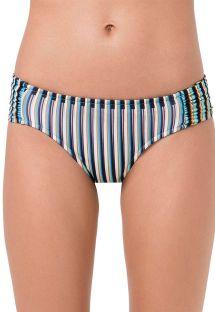 Fixed bikini bottom blue stripes - BOTTOM FRANZIDO GAROUPA
