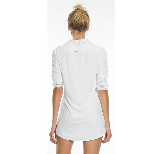 Weißes langärmliges Shirt-Kleid - UPF50 - CHEMISE BRANCO - SOLAR PROTECTION UV.LINE