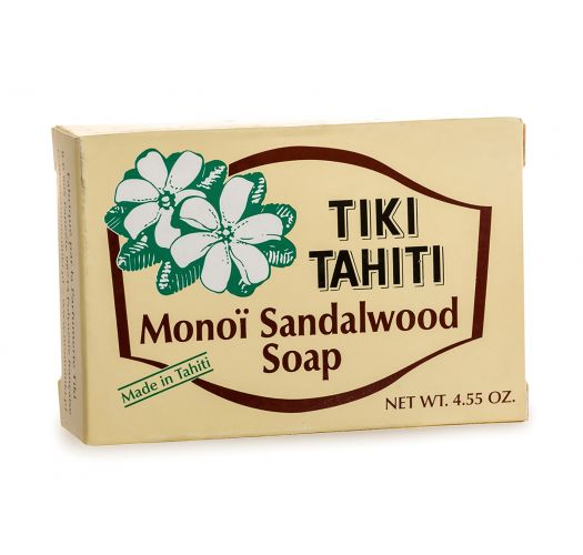 Plant-based soap with monoï and coconut oil, sandalwood fragrance - TIKI SAVON SANTAL 130g