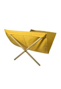 Yellow canvas and pine deckchair, measuring 140x70cm - NEO TRANSAT AMARELO