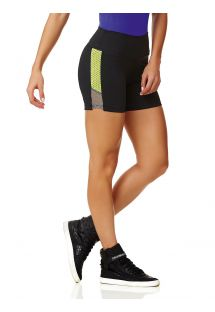 Bi-material, black sports shorts - SHORT NEW ZEALAND