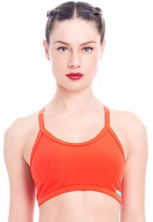 Dark orange sports bra, graphic back - TOP GIRONELLA