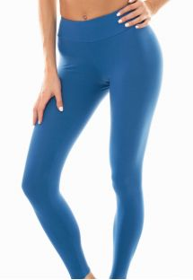 Plain denim blue workout leggings - LEG NZ ALPES