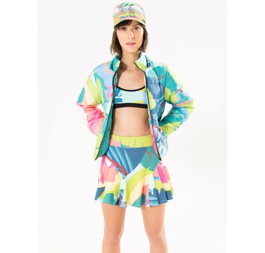 Sports bra with tropical print and strappy back - TOP TIRAS GALEGO TROPICAL