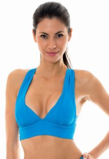 Blueworkout sports bra with crossover back - NZ RESORT TOP FITNESS