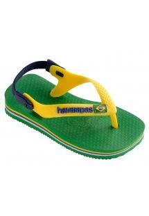 Σανδάλια - Havaianas Baby Brasil Logo Green