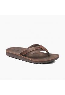 Dark brown leather flip flops anatomical sole - VOYAGE LUX DARK BROWN