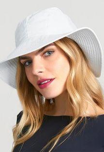 White hat with bandana tie - CHAPEU SAN REMO BRANCO - SOLAR PROTECTION UV.LINE