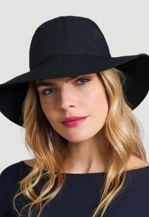 Black hat with bandana tie - CHAPEU SAN REMO PRETO - SOLAR PROTECTION UV.LINE