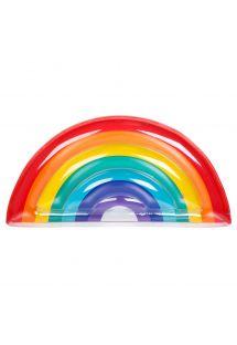 Rainbow multi-coloured rubber ring - LUXE RAINBOW