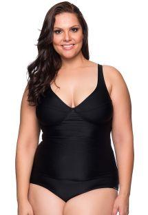Black underwired one-piece swimsuit - plus size - MAIO PRETO PLUS