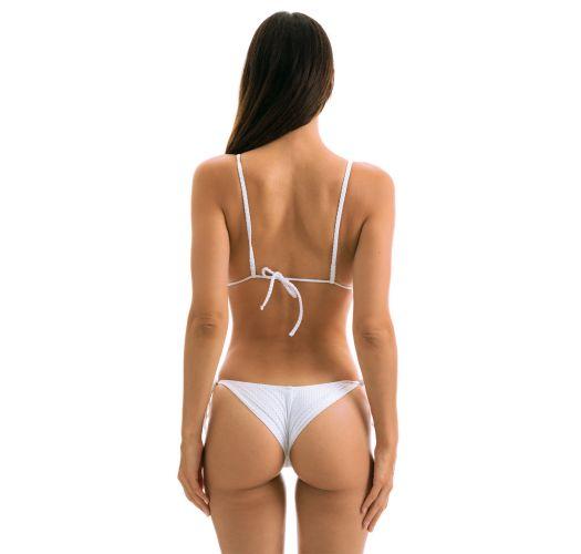 White textured Brazilian scrunch monokini - CLOQUE BRANCO TRIKINI