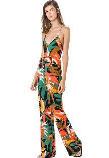 Colorful beach jumpsuit - MACACAO DECOTE ROLOTE MARAMBAIA
