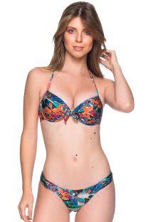 Balconette bikini med push-up effekt og tropisk mønster - BOLHA NORONHA FLORAL