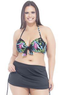 Plus-size floral bikini and skirt bottom - LAÇO SAINHA