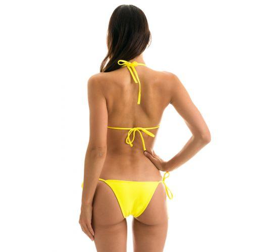 Lemon yellow triangle top bikini - BEACH STREGA ROLOTE