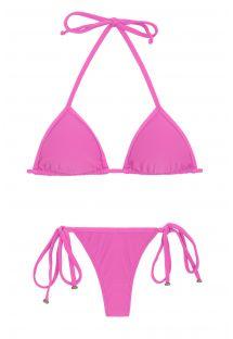 Pink side-tie string Brazilian bikini - BIKINI TRI MICRO