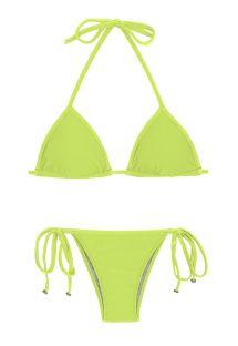 Lime side-tie Brazilian bikini - LIME TRI