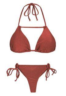 Bikini string brique irisé et triangle - LIQUOR DETAIL