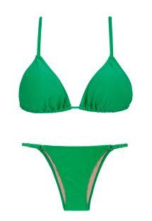 Bikini brésilien vert réglable côtés fins - PETER PAN ARG FIXO
