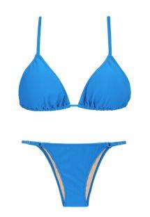 Bikini brésilien bleu réglable côtés fins - URANO ARG FIXO