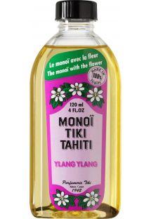 Ylang-ylang doftande Monoï-olja med blomma, tillverkad i Tahiti - TIKI Monoi Ylang Ylang 120 ml