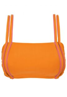 Orange bra bikini top with pink details - TOP DUO ORANGE
