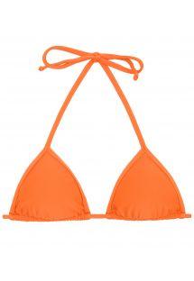 Orange neck-tied triangle bikini top - TOP ITAPARICA TRI