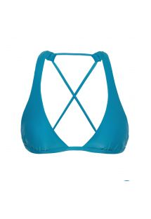 Blue crossover triangle halter top - TOP NILO CORTINAO