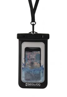 Waterproof case - Fits all phones - BLACK - WATERPROOF CASE BLACK