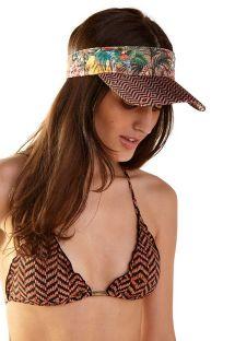 Visor cap in tropical & ethnic print - VISEIRA RUBI GUINÉ