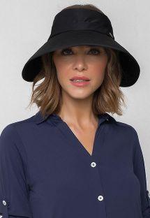 Black soft hat - UPF50+ - VISEIRA TOKYO BLACK - SOLAR PROTECTION UV.LINE
