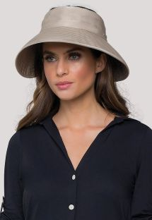Dark beige soft hat - UPF50+ - VISEIRA TOKYO KAKI - SOLAR PROTECTION UV.LINE